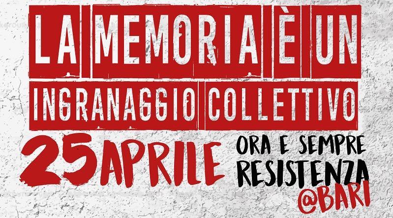 25 Aprile a Bari – APPELLO A TUTTE LE REALTA' ANTIFASCISTE
